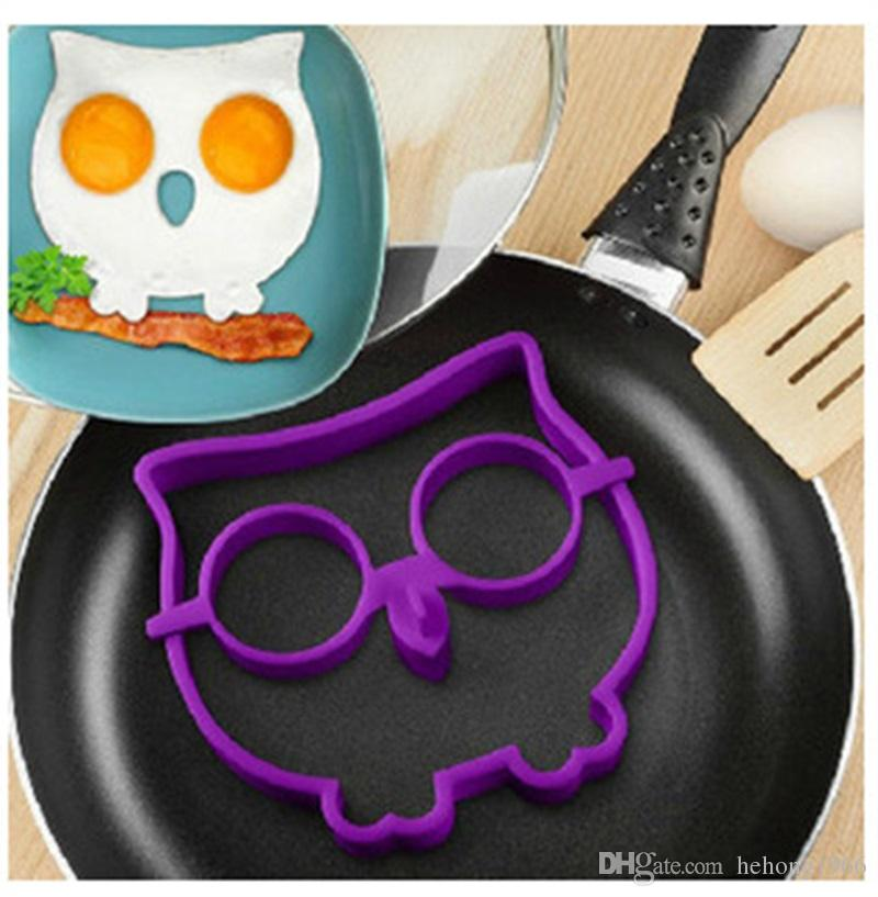 Cooked Fried Egg Owl Shaper Mold Silicone Eco Friendly Egg Ring Eggs Cooking Creative Cartoon Deisgn Moulds 2 8bha Z
