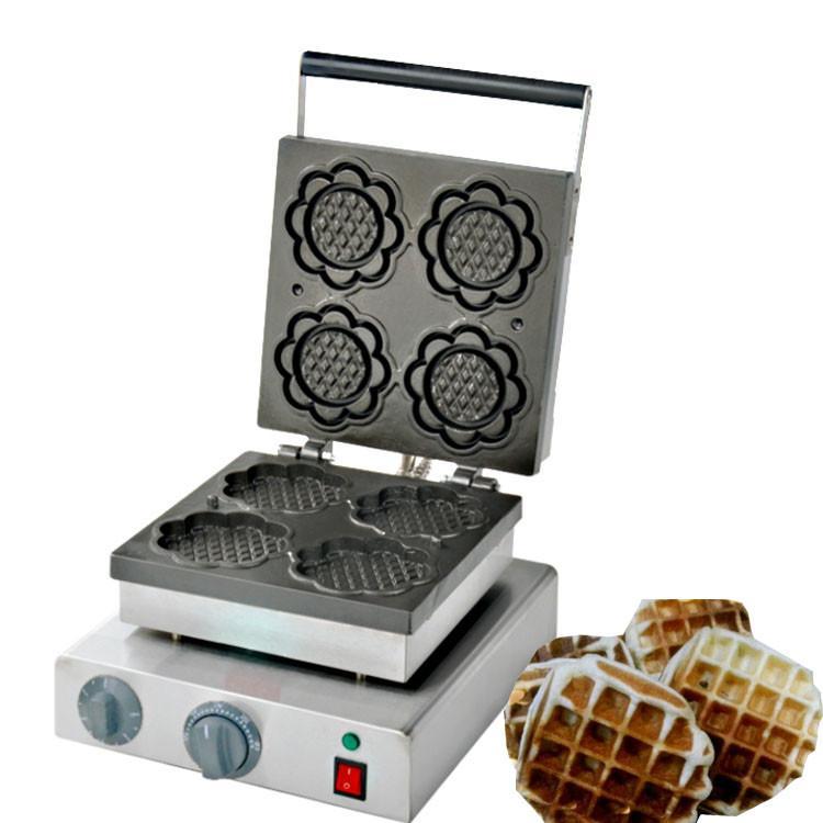2019 Stainless Steel Commercial Use 220v 110v Sunflower Waffle Maker