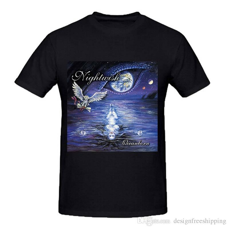 Logo de mode d'impression T-shirts court Nightwish Oceanborn O-Neck T-shirts 2018 pour hommes