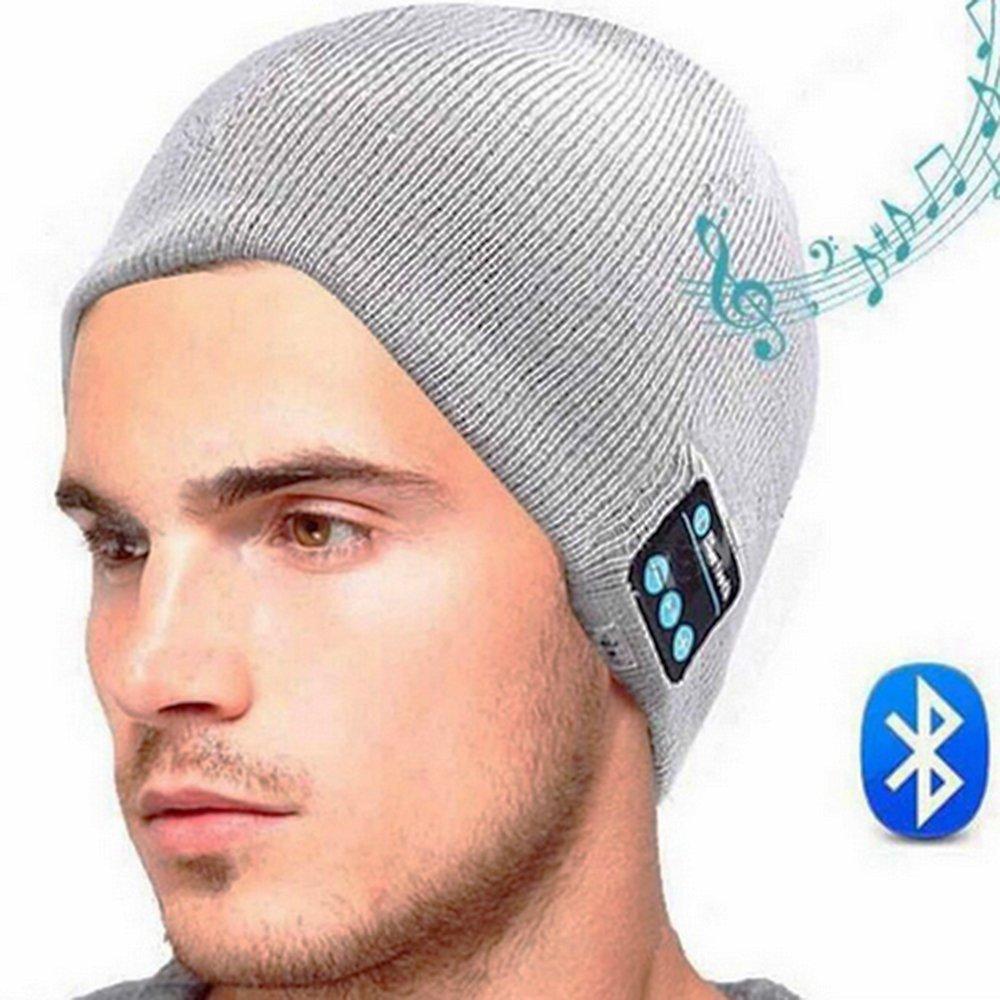 Unisex Bluetooth Gorro Inteligente Chapéu de Malha de Inverno V4.1 Sem Fio Musical Fones De Ouvido Fones De Ouvido w / 2 Alto-falantes Gorros Chapéus Cap