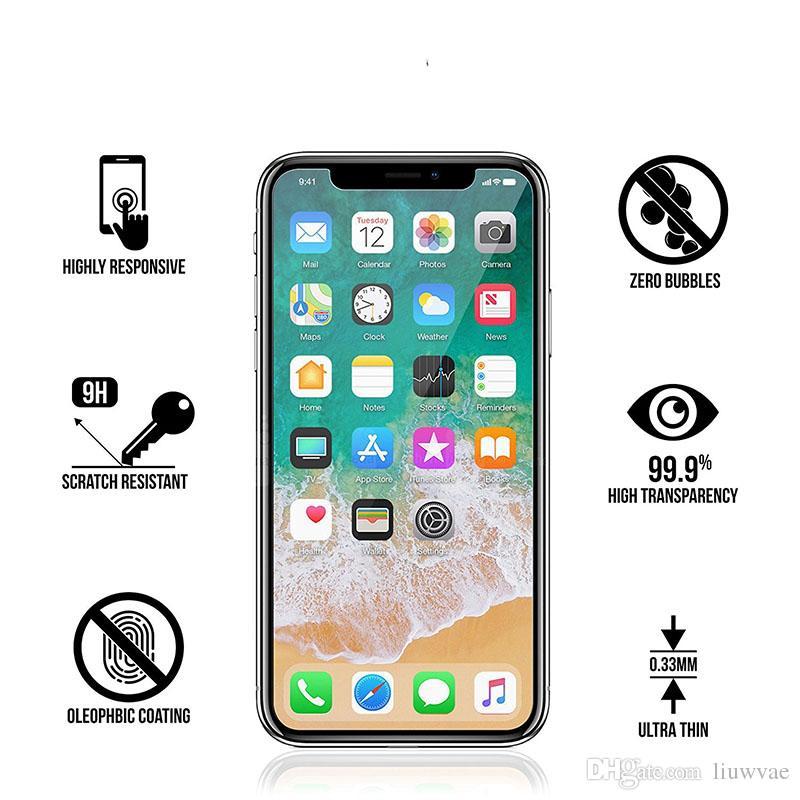 31f91485453 Protector De Pantalla Movil Para Iphone 7 4.7 6s Plus 2.5d 9h Protector De  Pantalla De Película De Vidrio Templado Premium Protector A Prueba De  Explosiones ...
