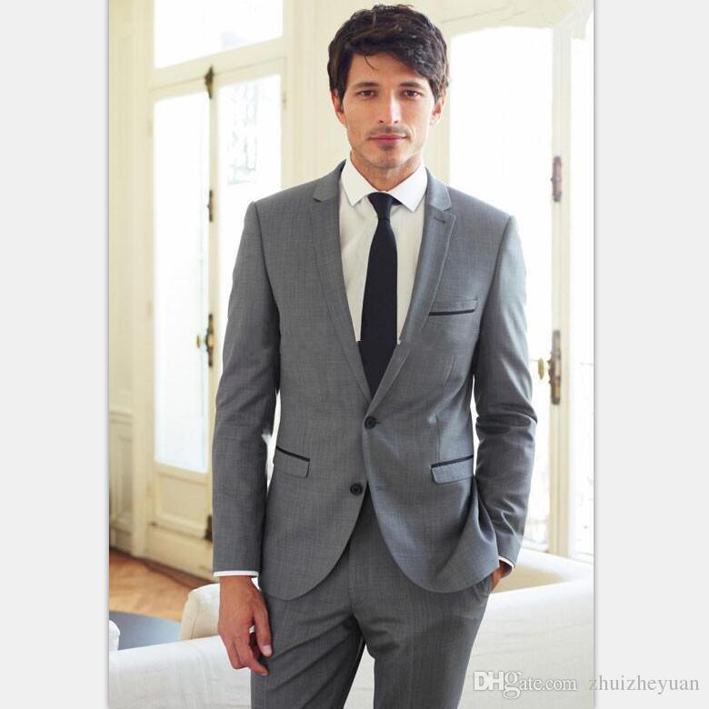 Abito Matrimonio Uomo Grigio : Acquista custom made grigio chiaro abiti da uomo moda abiti da