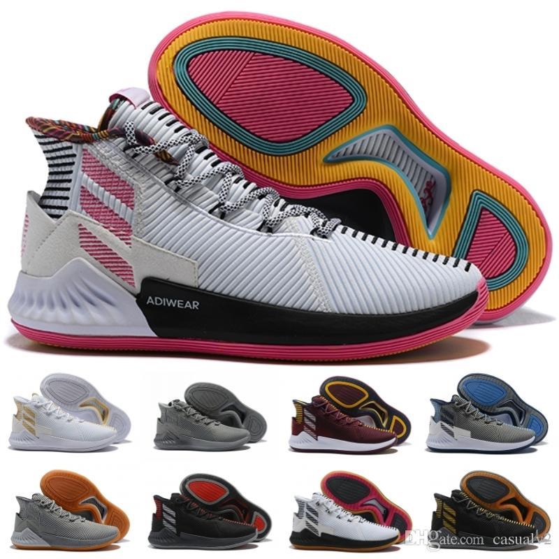 2018 Adidas D Rose hombre  zapatos de baloncesto Caliga amortiguación shock