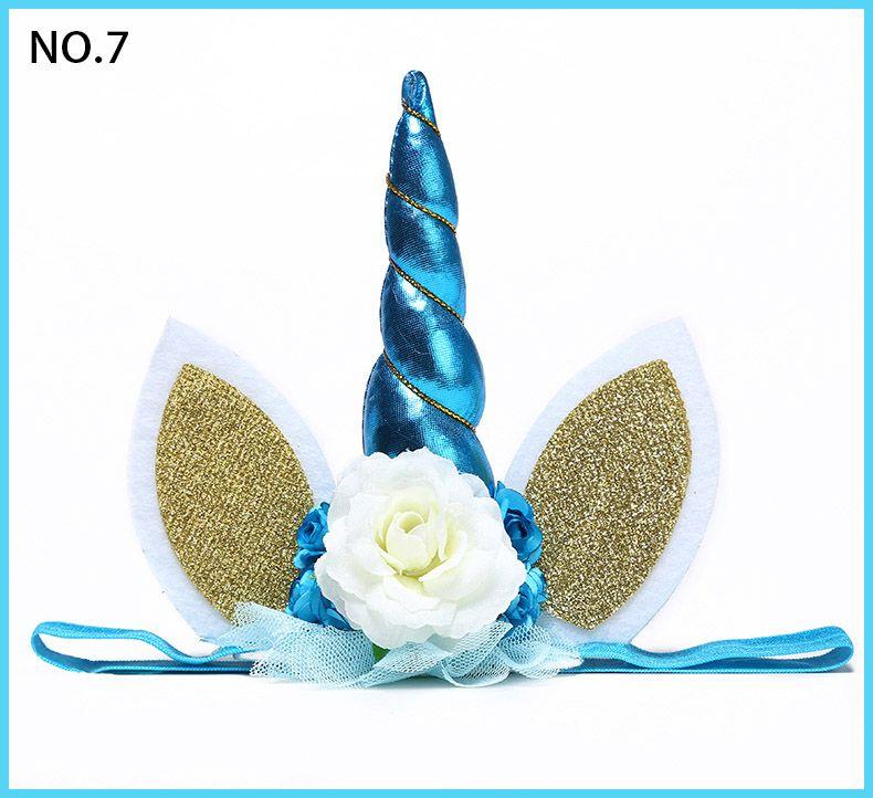 Unicorn Flower Crown Headband party headband Magical Unicorn Headband Floral Gold Unicorn DIY Kit Horn