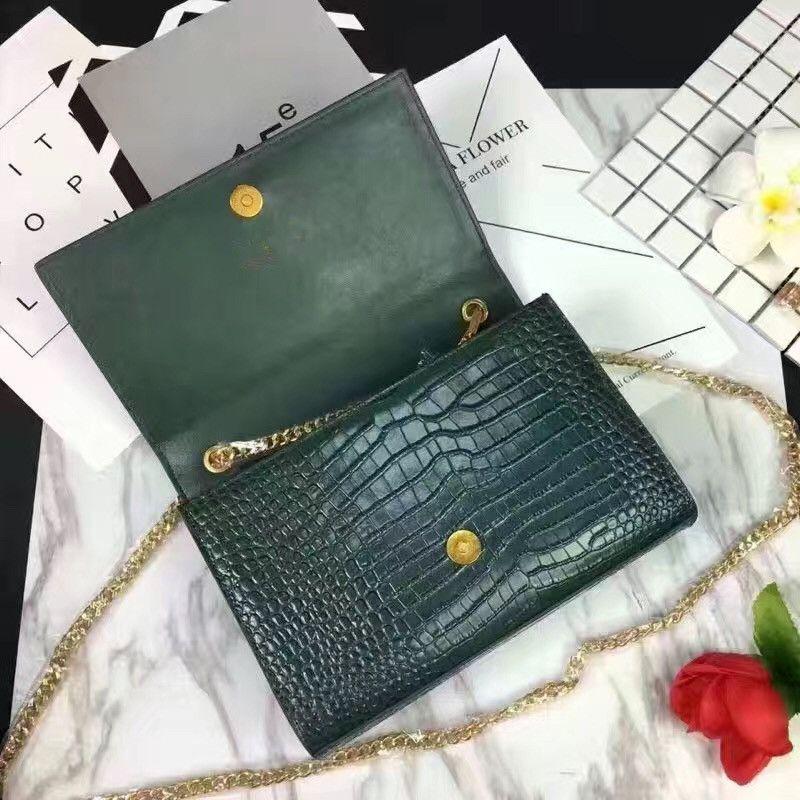 Alligator genuine leather popular brand shoulder bag for lady hot selling