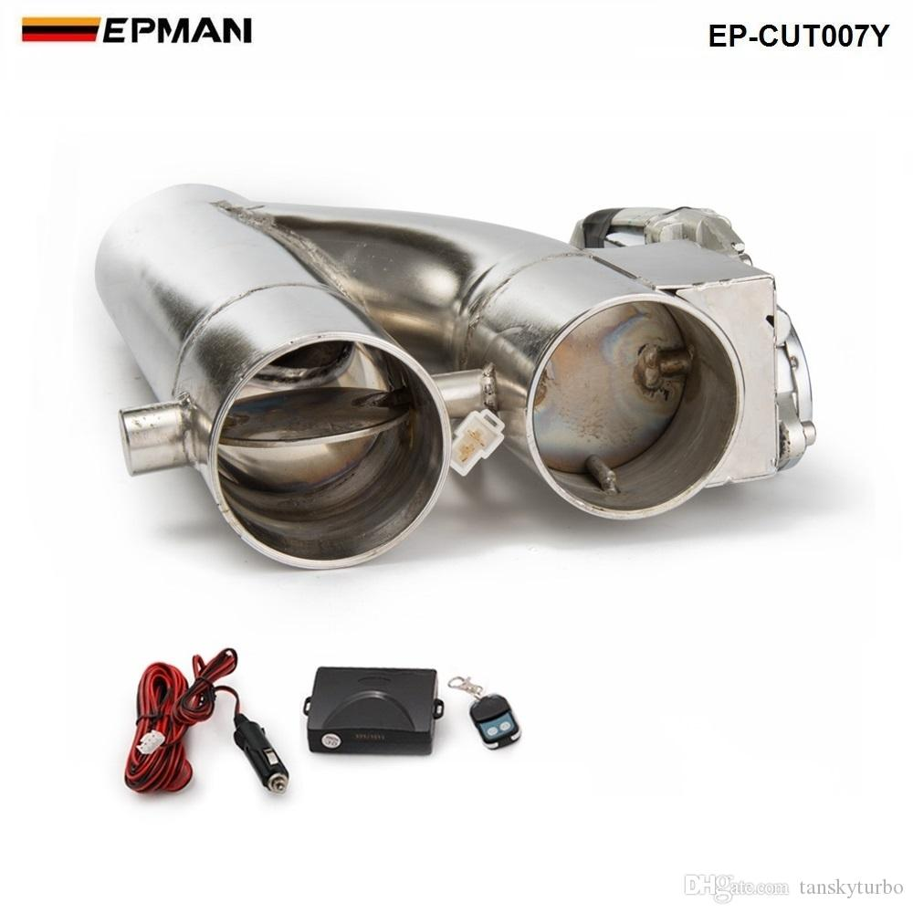 """2.25"""" / 2.5"""" / 3"""" Exhaust Piping Patented Product Electric Exhaust Downpipe Cutout E-Cut Out Dual-Valve Controller Remote Kit EP-CUT007Y"""