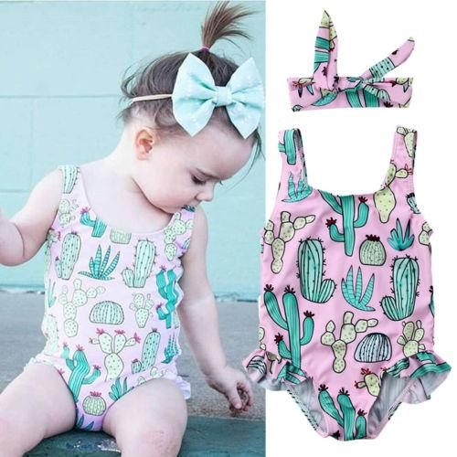 09a90b2b85180 2019 Lovely Cactus Girls Swimsuit 2018 One Piece Children Swimwear Kids  Baby Swimsuit Bathing Suit Beach Summer Style Swimming Suit From Cocosly,  ...