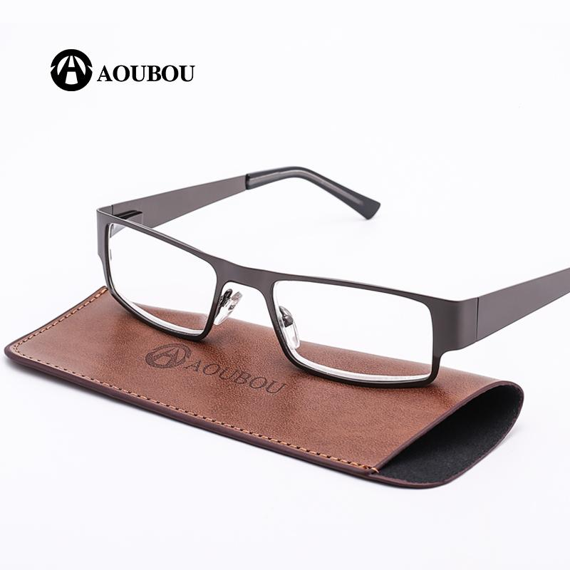 d9d2619320 AOUBOU Brand Retro Reading Glasses Men 2.0 2.5 Anti Fatigue Stainless Steel  Spring Hinges Frame Glasses Gafas De Lectura AB001 Artwear Reading Glasses  Best ...