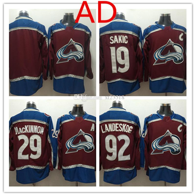 9a6adf5cc ... official store 2018 2018 new mens colorado avalanche joe sakic jersey  stitched white red 29 nathan