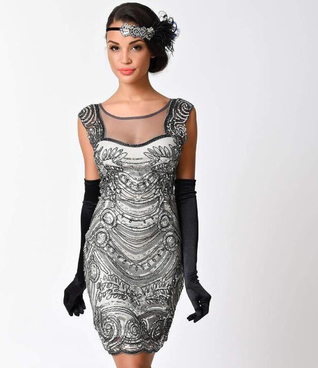 Großhandel Günstige Vintage 1920 Kleider Schwarz Für Frauen Nicht Ärmel Flapper  Fransen Große Gatsby Kleid Champagner Sexy Kurze Kostenloser Versand Von ... 109927ccee