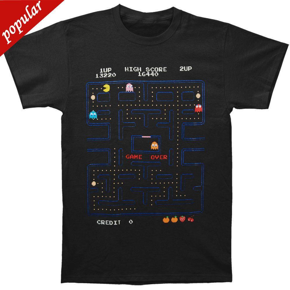 d48cf30b9dab Pac-Man Mannen Game Screen T-shirt XXX-Grote Zwarte T-shirt Mannelijke  Hipster Tops Goedkope Crew Hals Men'S Top Tee Korte Mouw Funny T Shirts  Shirt Men ...
