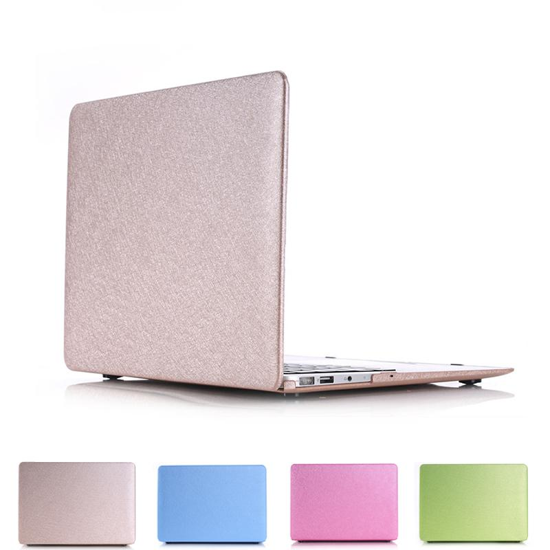 Luxury Silk leather surface laptop Cover case For apple Macbook Pro Retina 12 13 15 laptop bag for mac book air 13