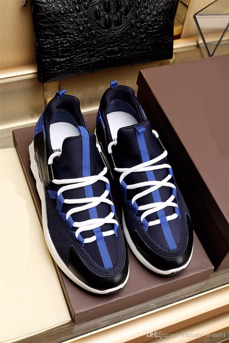 2018 Nome Marca Run Away Patchwork Uomo Scarpe Casual Moda Buona Qualità Low Cut Lace-up Race Runner Scarpe Outdoor Colori misti Sneaker