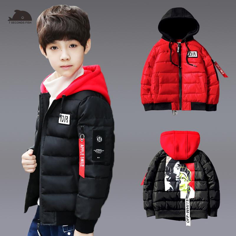9bf5a5dff Boys Winter Jackets Warm Coat Kids Clothes Snowsuit Outerwear ...