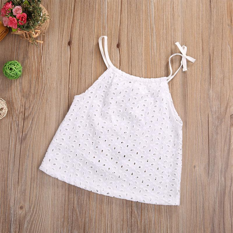 Toddler Baby Girl Openwork Crochet Lace Blouse Newborn Kids Braces