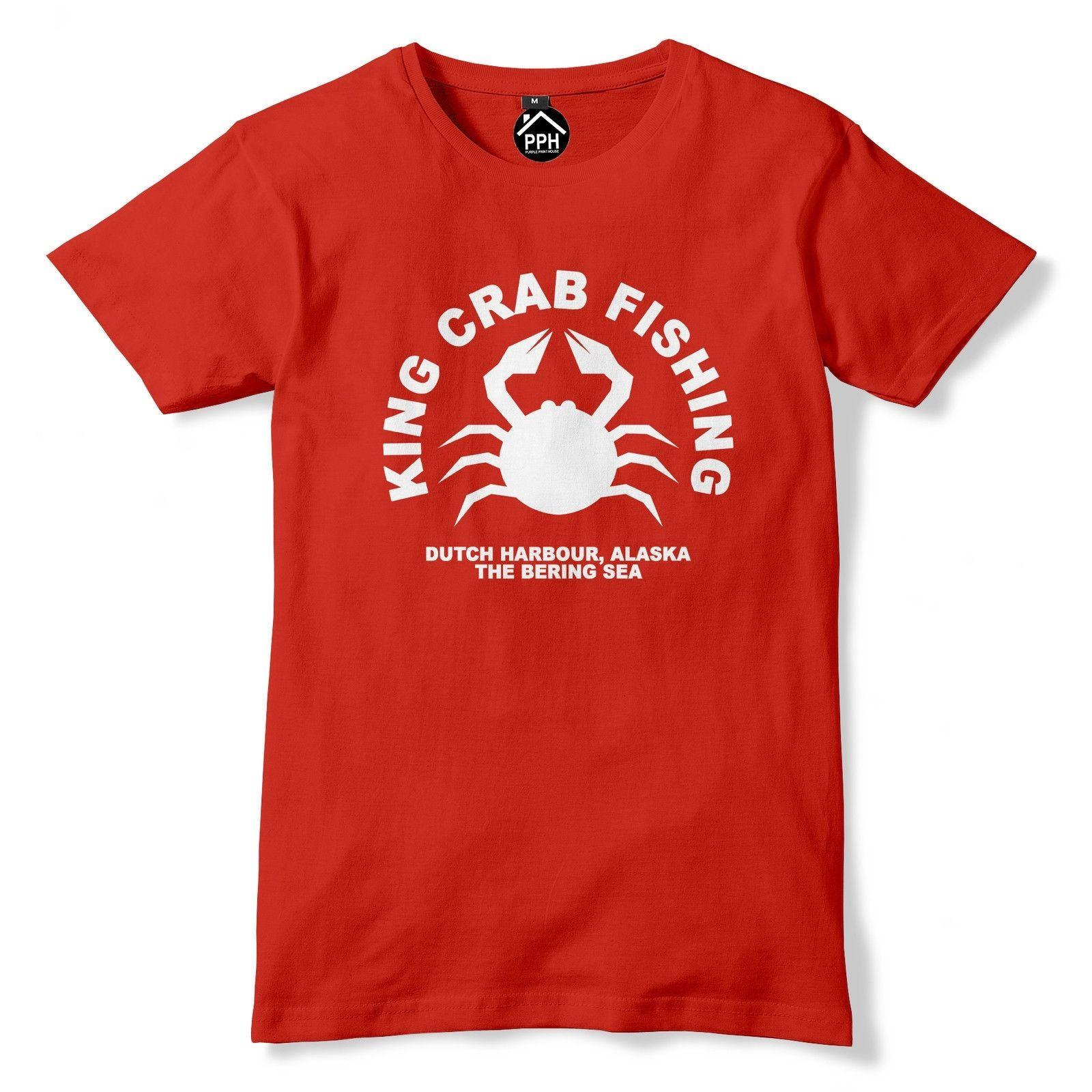 King Crab Fishing Tshirt Funny T Shirt Fish Fisherman Fly Angler Alaska PT9  Funny free shipping Unisex Casual