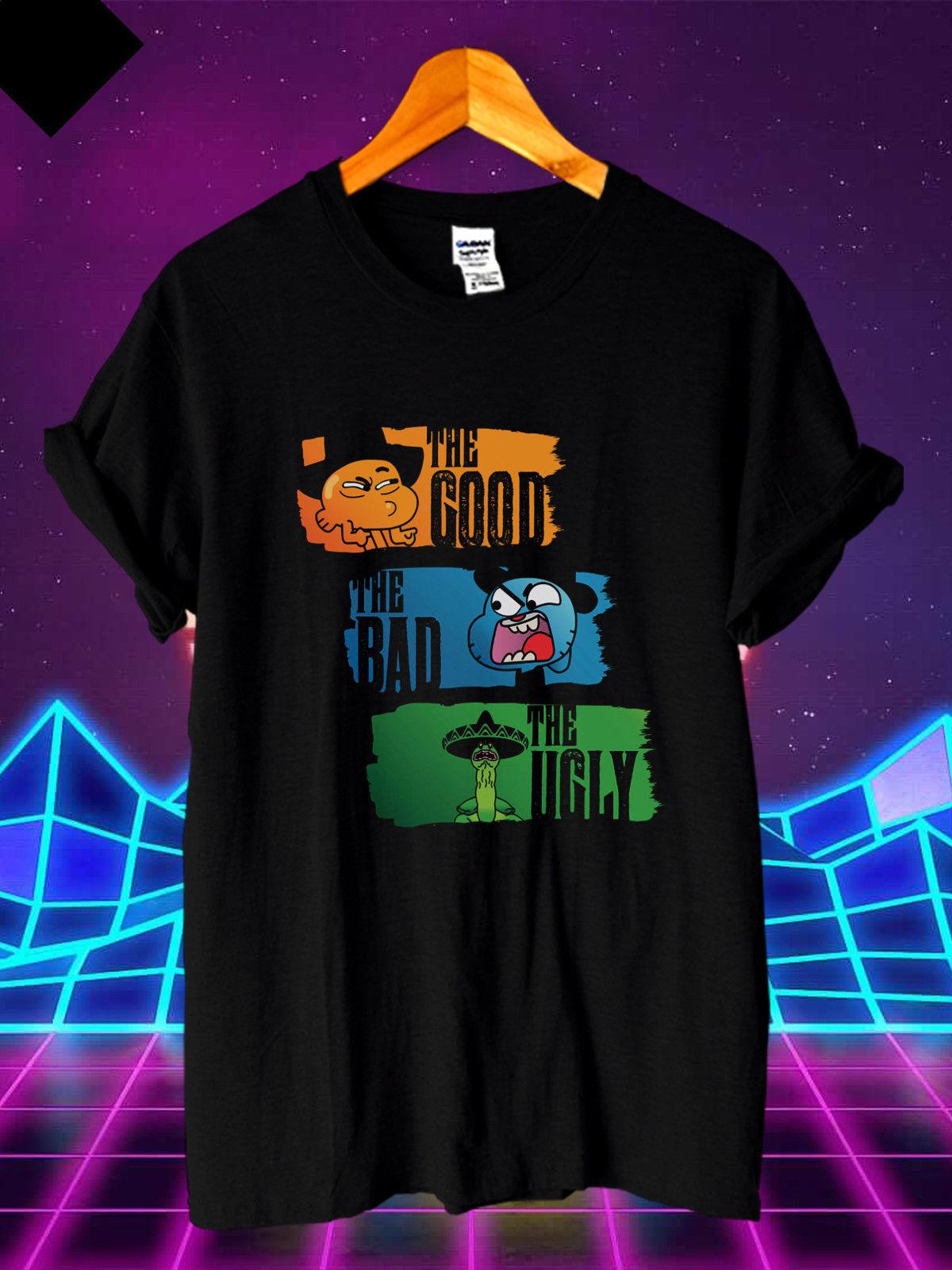 the amazing world of gumball darwin good bad ugly new men\u0027s t shirtthe amazing world of gumball darwin good bad ugly new men\u0027s t shirt s m l xl 2xl 3xl it t shirts humor t shirts from crazytshirts30, $11 58 dhgate com