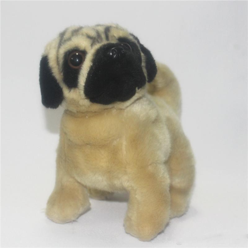 2019 Simulation Pug Dog Plush Doll Mini Animals Dogs Toy Pet Children Birthday Gift Decoration 20cmx20cm From Angell Girl 239