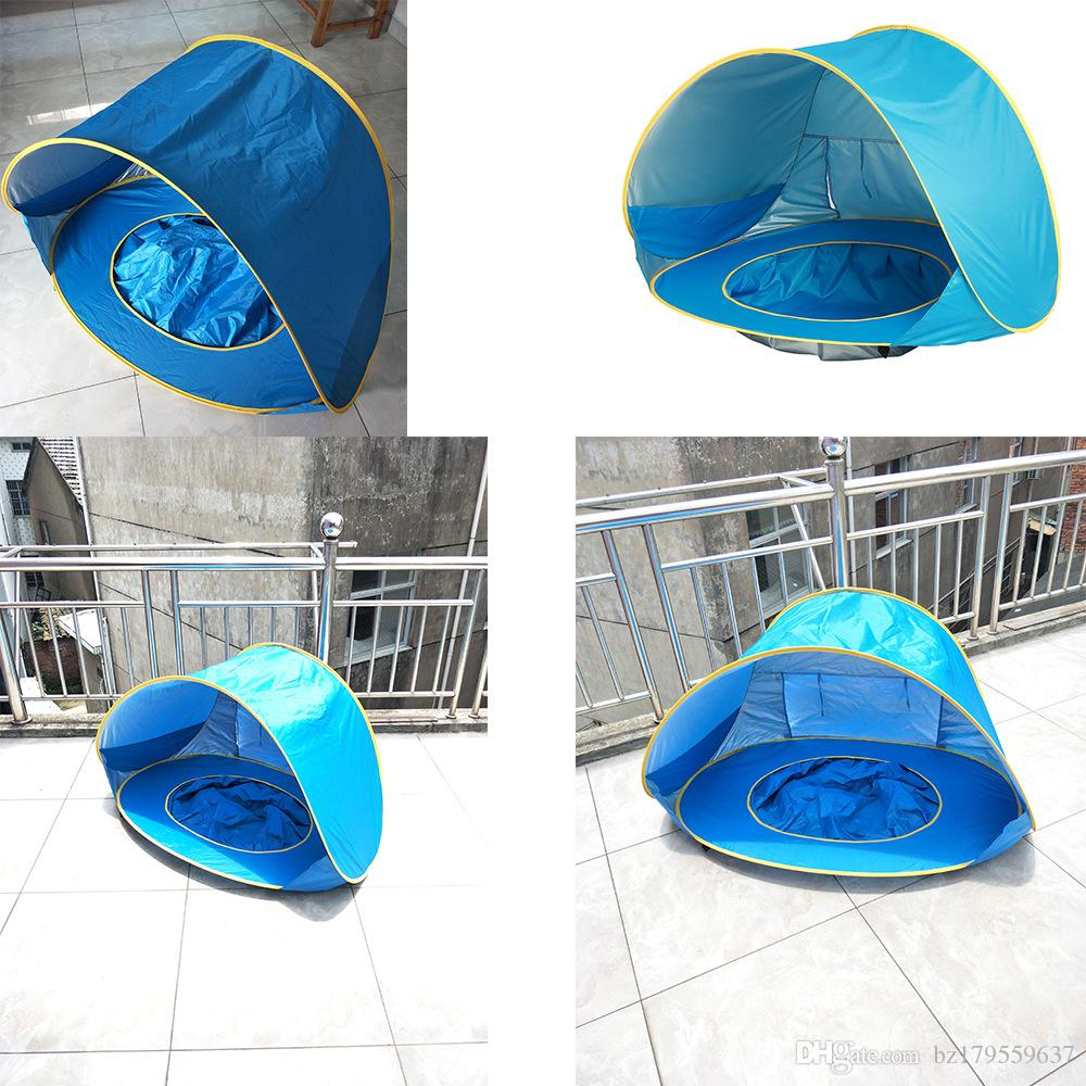 Children Waterproof Pop Up Awning Tent Baby Beach Tent Uv
