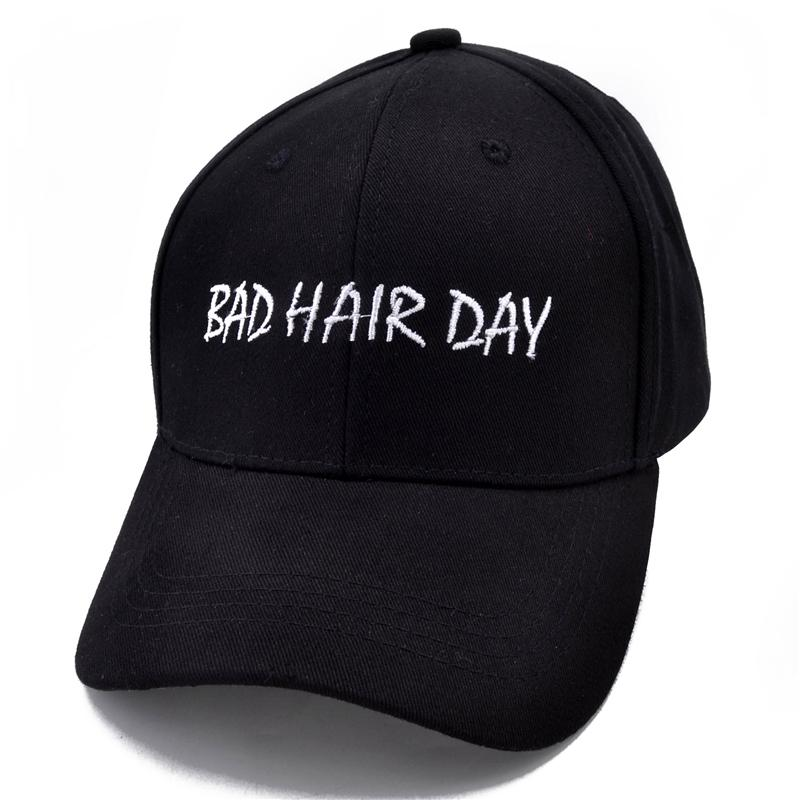 86c1200ea9a BAD HAIR DAY Baseball Caps Black Snapback Caps Men Dad Hats Casquette De  Marque Online with  9.29 Piece on Qupeng9165 s Store