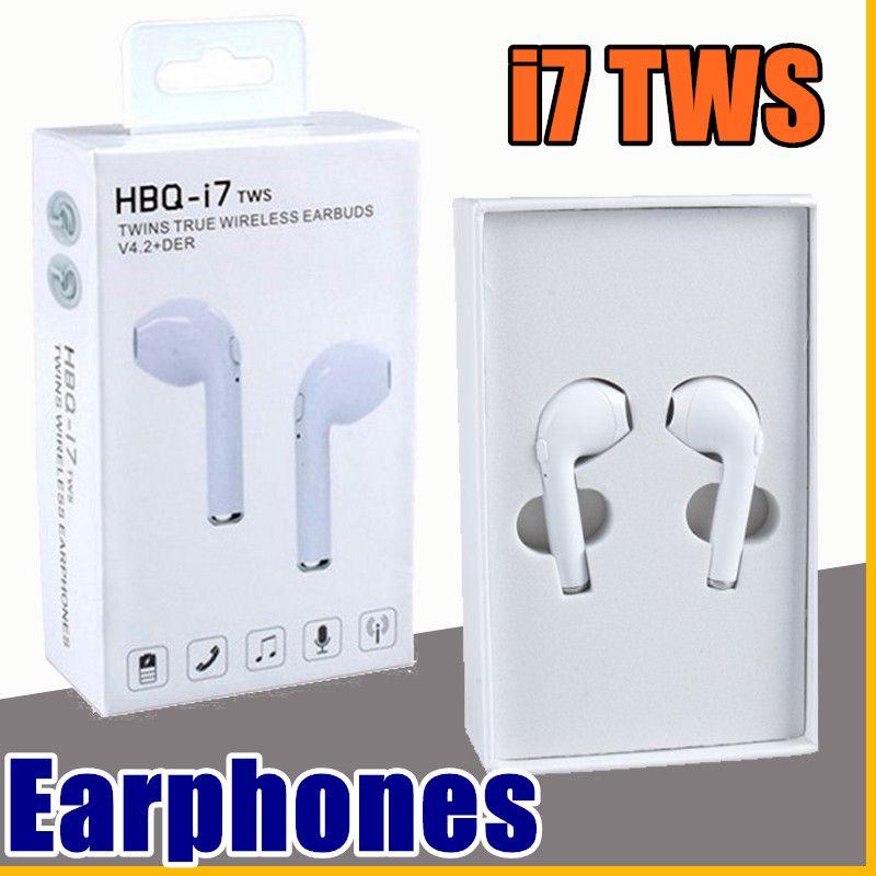 2b32cff22f1 2018 New Arrival HBQ I7 TWS Twins True Wireless Earbuds Mini Bluetooth V4.2  DER Stereo Headset Sports Headphone For IPhone 7 Galaxy S8 Wireless  Bluetooth ...