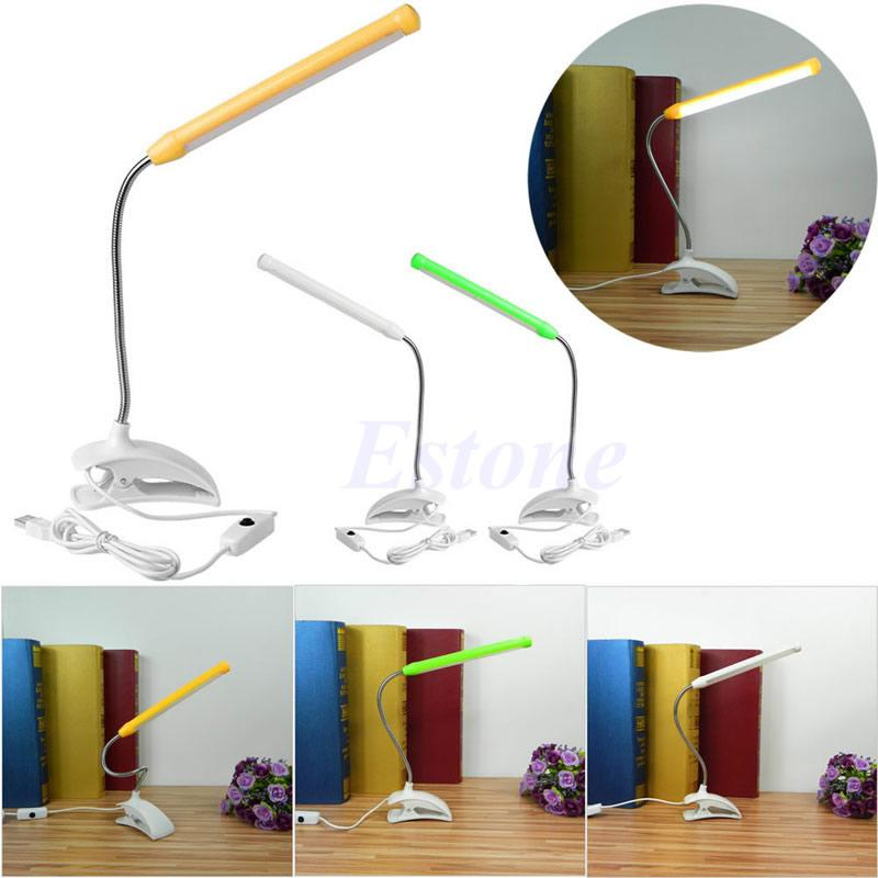 Lights & Lighting Useful Usb Clip-on 13 Led Light Clamp Bed Table Study Desk Reading Lamp Adjustable New