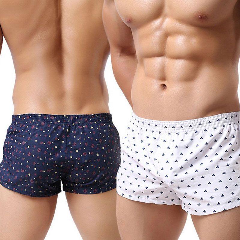 8b4061ff61 Compre Trunks Hombres Boxer Shorts Slacks Ropa Interior De Algodón Para  Hombre Moda Sexy Boxers Hombre Undershorts Inicio Cuecas Homewear Beach  Underpants A ...