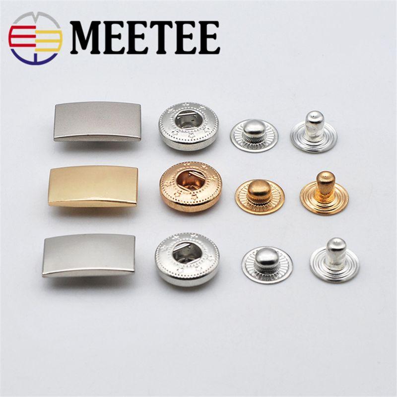 Meetee D1-2 Metal Snap Fastener Metal Buttons DIY Sewing Press Studs  Buttons Coat Down Jacket Buttons