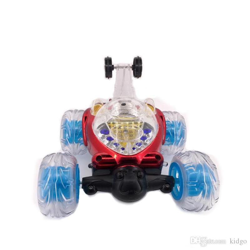 28eff747c Compre Rotación De 360 grados Del Coche Teledirigido Que Rueda La Rueda  Giratoria Truco Del Vehículo Eléctrico Con La Luz Y La Música Toy K0355 A  $17.41 ...