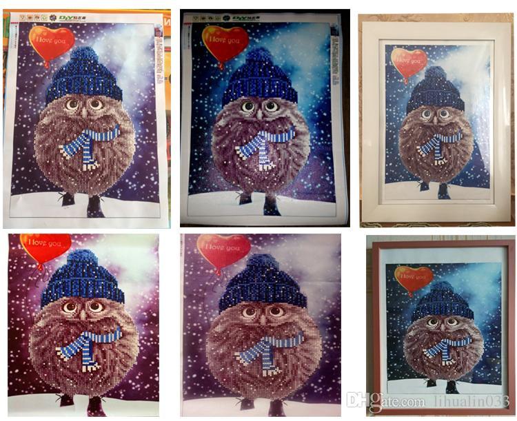 30 * 40cm 5D fai da te gufo diamante ricamo pittura a punto croce strass quadrato mosaico di foto kit