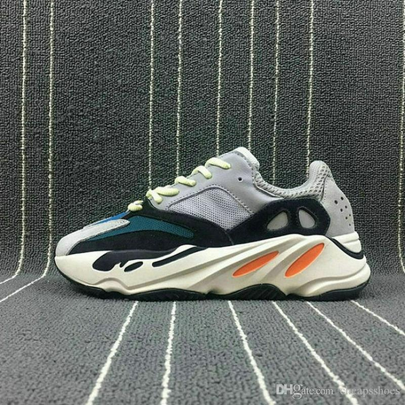 2944b0db82872 2019 2019 With Box 700 Wave Runner B75571 Running Shoes Men Women B75571  Stitching Color Top Quality Athletics Sneakers US 5 11.5 With Box From  Cheapsshoes