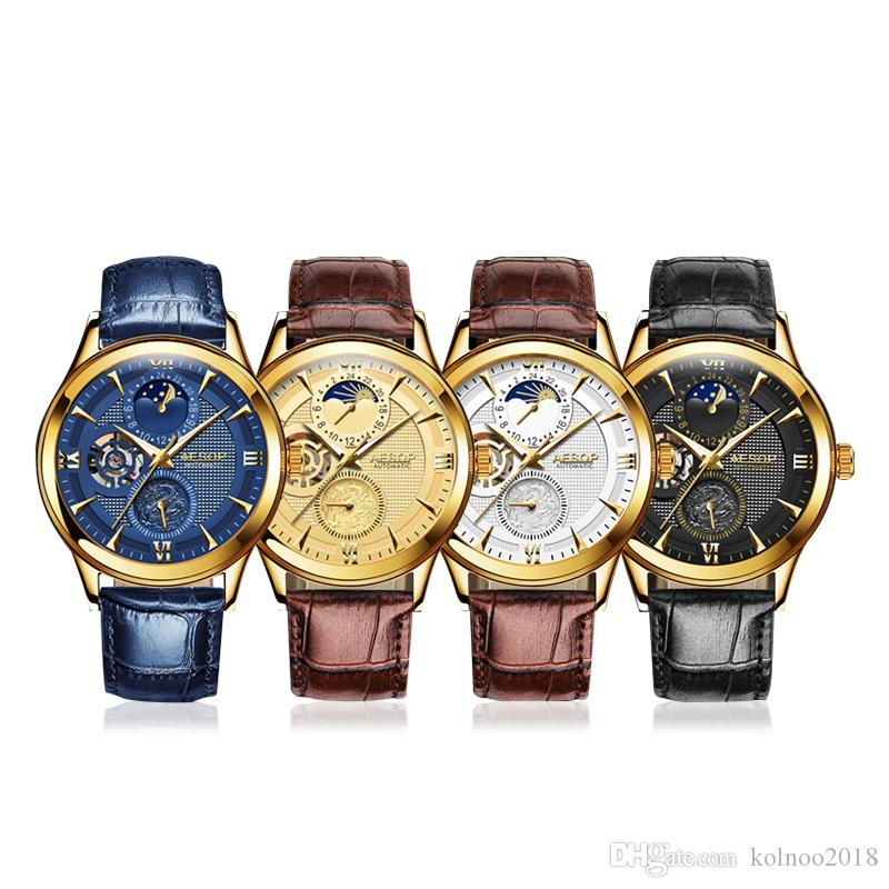 81b66802002 Compre Aesop Marca De Moda Homens Homens Relógio Mecânico Automático De  Ouro Relógios De Pulso Relógio De Pulso Masculino Relógio Caixa Relogio  Masculino ...