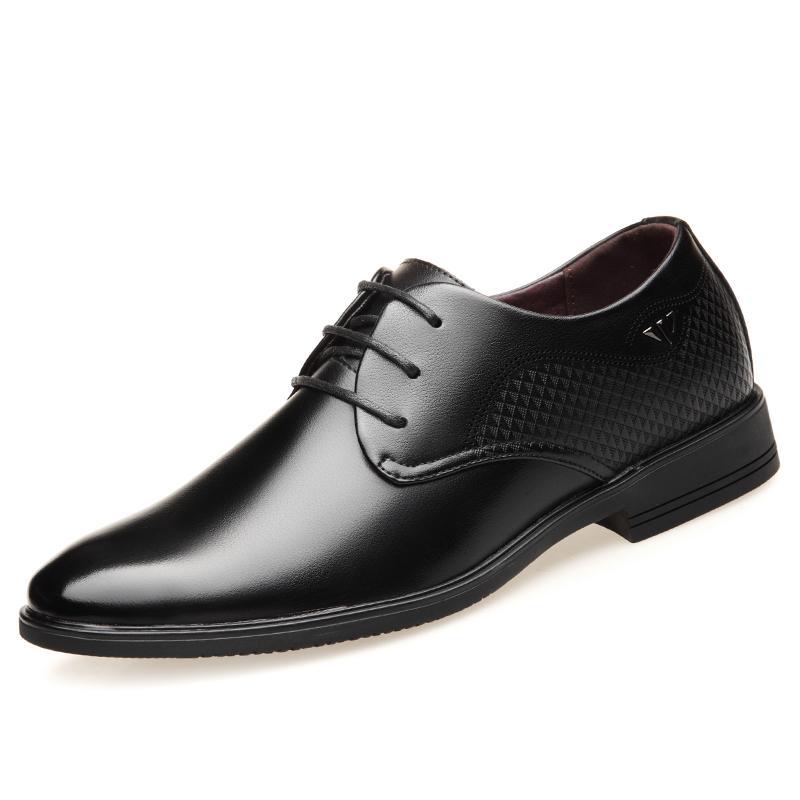 bdf450b4d59 Compre Zapatos Formales De Los Hombres DeOLERLTOL Negro Marrón PU Patentes  De Cuero Vestido De Fiesta Vestido De Oficina Calzado Con Estilo Clásico  Derby ...