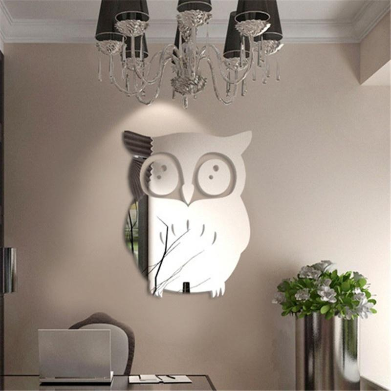 New 3D Owl Mirror Vinyl Removable Wall Sticker Decal Home Decor Art  Stranger Things Poster Wall Stickers For Kids Rooms Home Decoration Stickers  Home ...