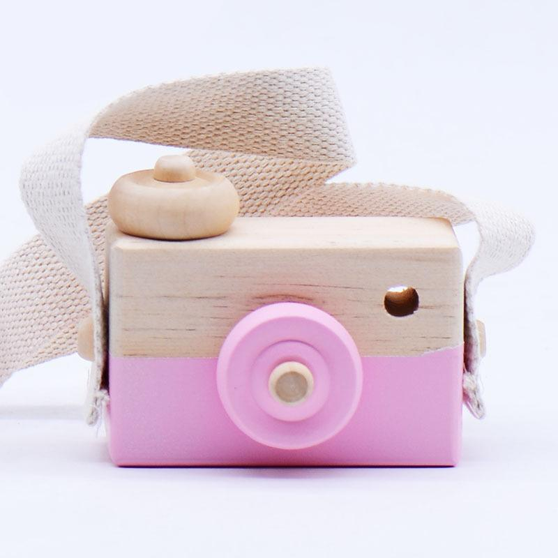 Wooden Camera Vintage Home Decoration Toy Baby Kids Hanging Camera Photography Prop Children Educational Toy Christmas Gifts