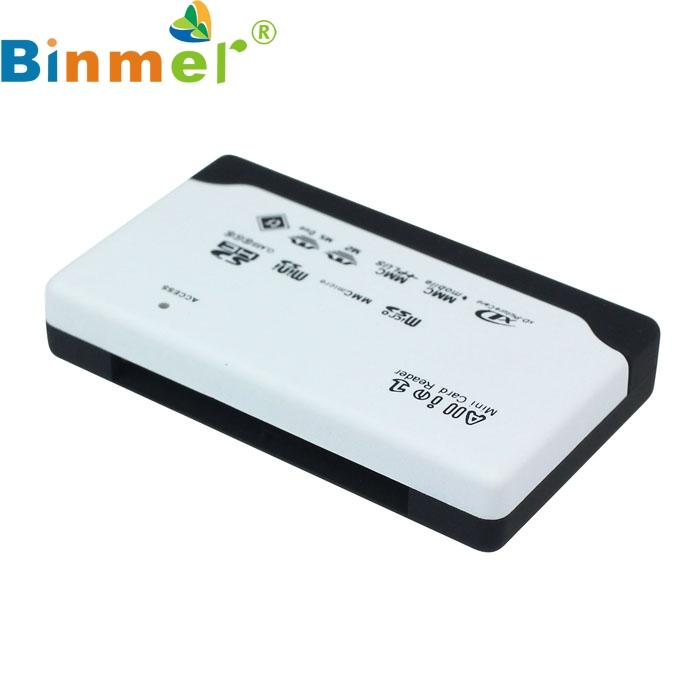 New USB Branco 2.0 Card Reader para SD XD MMC MS CF SDHC TF Micro SD M2 Adaptador Oct24