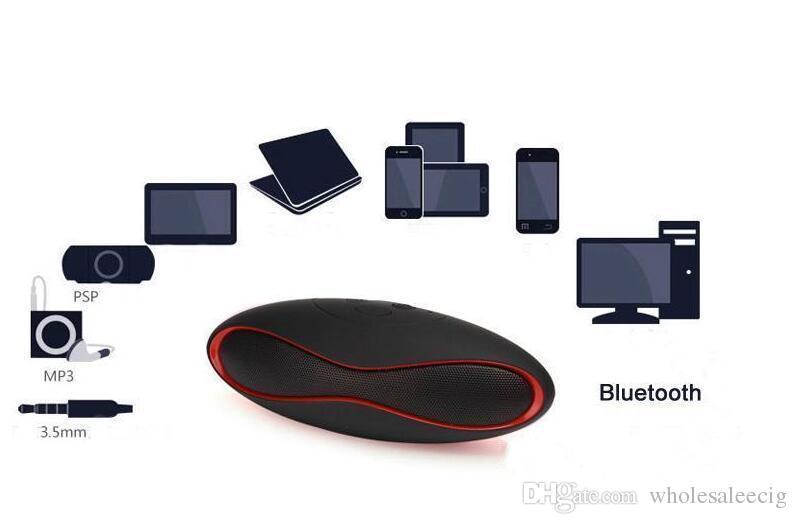 Mini X6 Rugby Altavoz Bluetooth X6u Altavoces estéreo inalámbricos portátiles X6U Manos libres V3.0 Reproductor de Audio MP3 Subwoofer Con U Disk TF Card A01