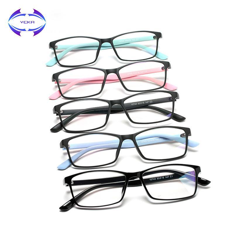 94fde9a9c6e VCKA 2019 Anti-blue Rays Blue Light Filter TR90 Plain Eyeglasses ...