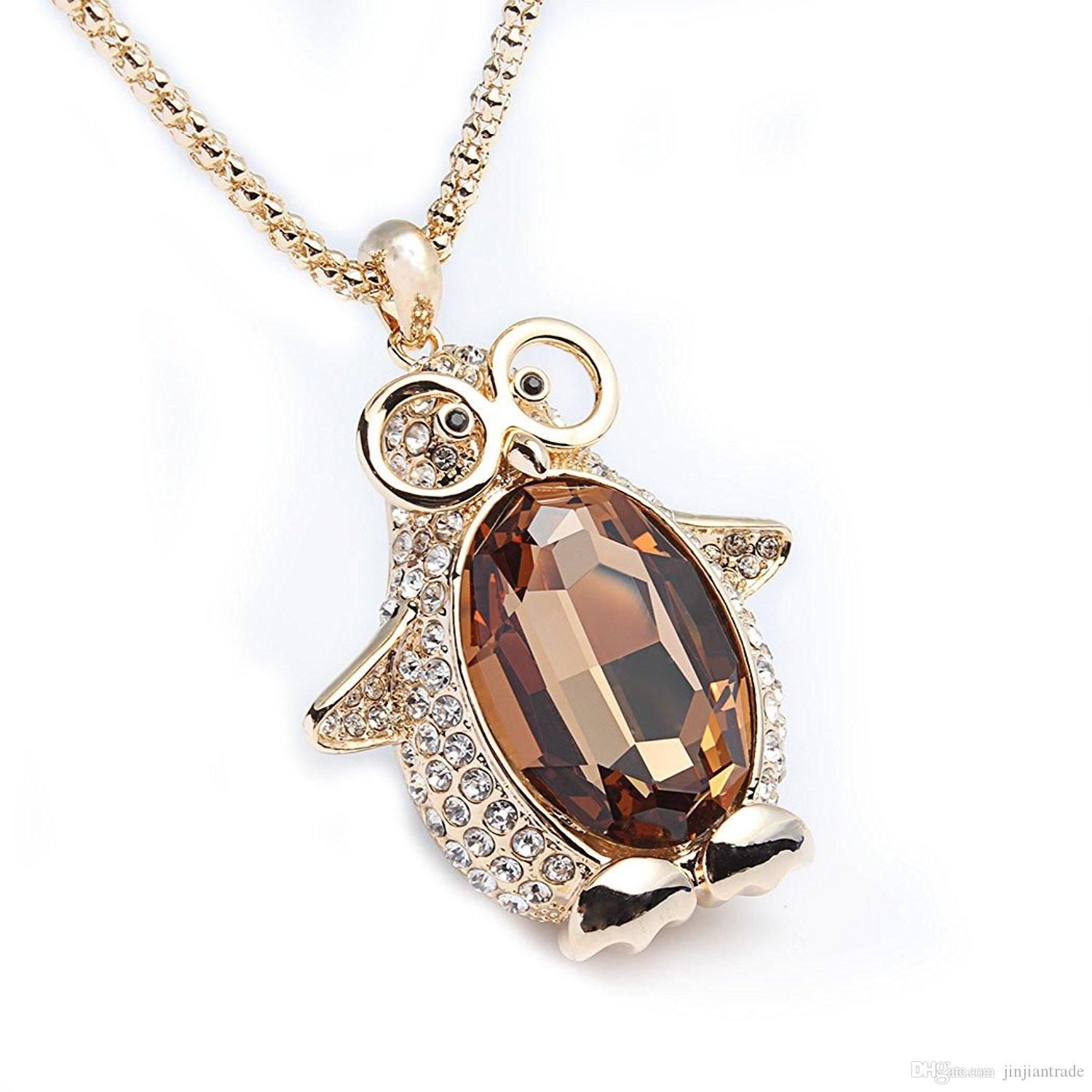 Wholesale fashion penguin pendant cute jewelry penguin necklace for wholesale fashion penguin pendant cute jewelry penguin necklace for women with chain pretty party gift blue pendant necklace costume jewellery from aloadofball Choice Image