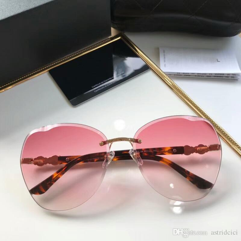 bdfd54d336 2018 Luxury Swomen Sunglasses Oversize Rimless Sunglasses Women ...