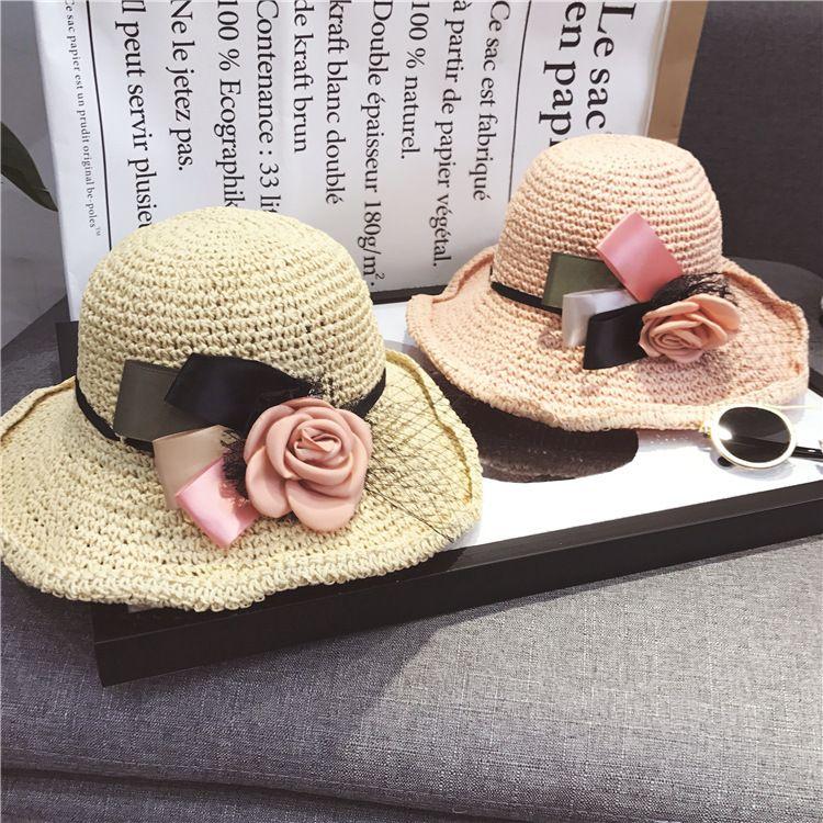 Großhandel Mädchen Stereo Blumen Häkeln Hüte 2018 Sommer Neue Kinder
