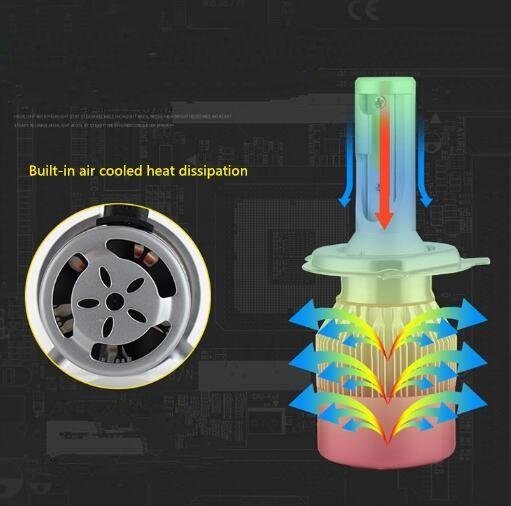Süper parlak 2 ünite 55W COB Led araç far Cips ampul Yüksek / Düşük ışın H1, H3, H4, H7, H8, H9, H11,9005,9006,9012