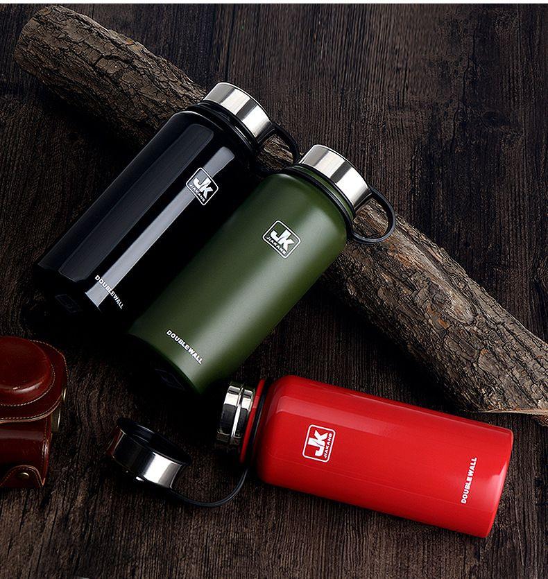 Botellas de agua portátiles de acero inoxidable Taza de taza con aislamiento al vacío al aire libre Senderismo escalada Kettle botella de agua 610 ml es WX9-235
