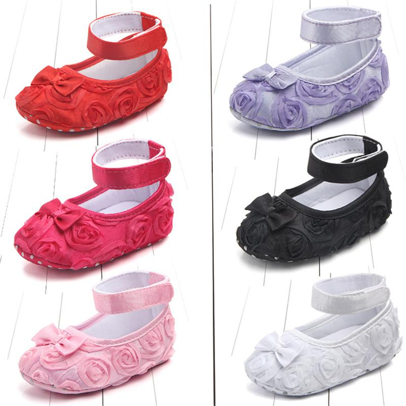 c42f1ca5239d 2019 2018 Newborn Baby Girls Kid Prewalker Lovely Bow Infant Toddler  Princess First Walkers Soft Soled Shoe Floral Shoes Footwear From  Cover3085