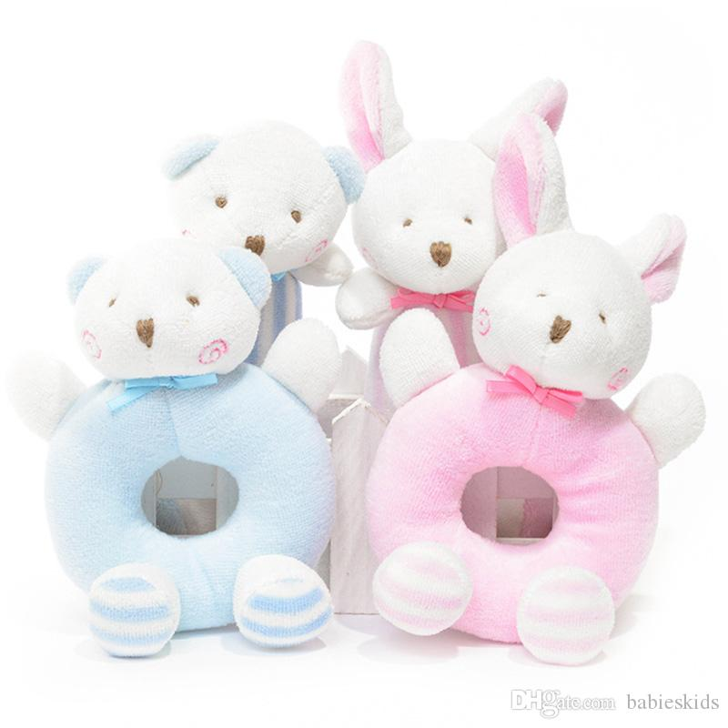 Soft Doll Toys For Baby Stuffed Toy Hanging Toys Baby Rabbit Bear Rattles Plush Toys Crib Ring Bed Bell Playing Toy Kids Gift