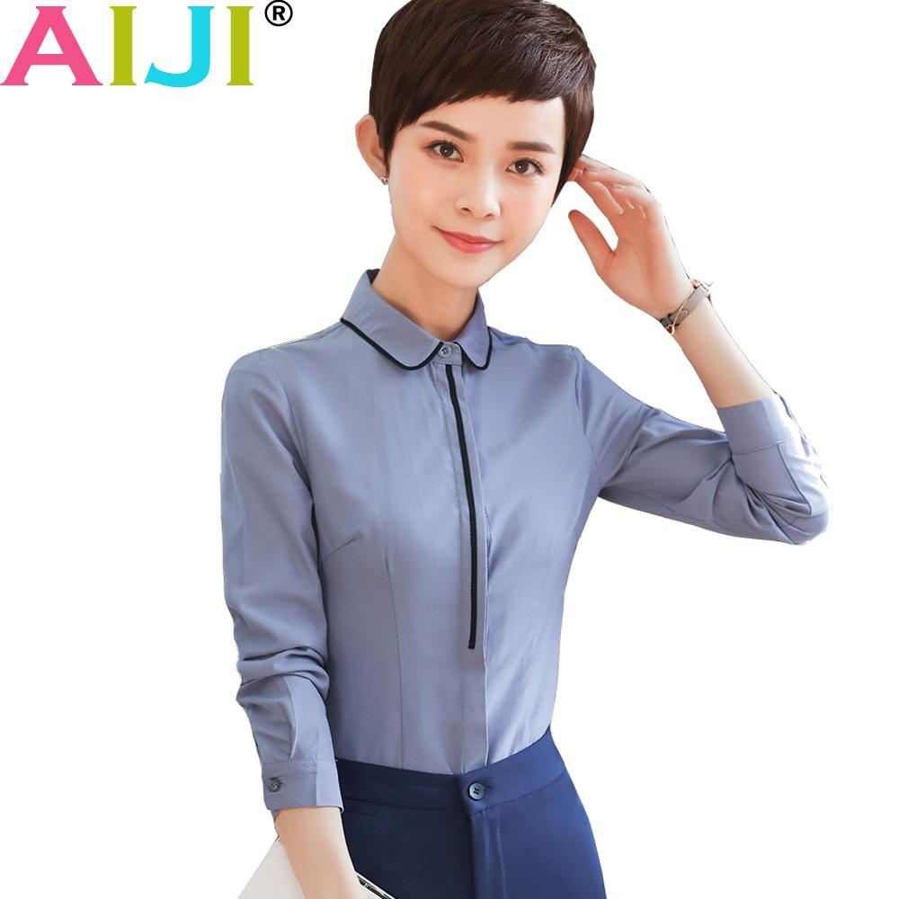 19240e78ac3 2019 Formal White Shirt Women Long Sleeve Chiffon Blouse Clothing Patchwork Work  Wear Summer OL Slim Office Ladies 5xl Plus Size Tops From Shipsoon