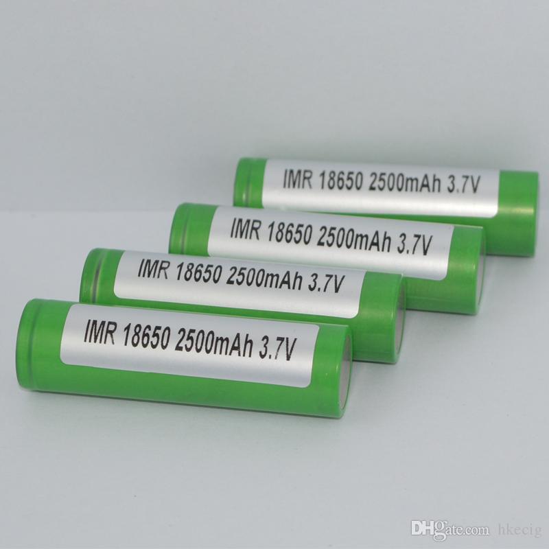 18650 литиевая батарея 2500mah зеленый 30A Max разрядник аккумуляторная батарея высокого стока для E cig Mods 25R