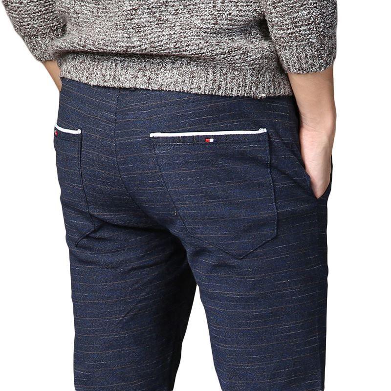 Acquista Pantaloni Classici Elastici Da Uomo Di Alta Qualità Di Primavera Nuovi  Uomini Di Alta Qualità Pantaloni Da Uomo Di Affari Vestito Slim Slim Jogger  ... 2fd2b570c1b