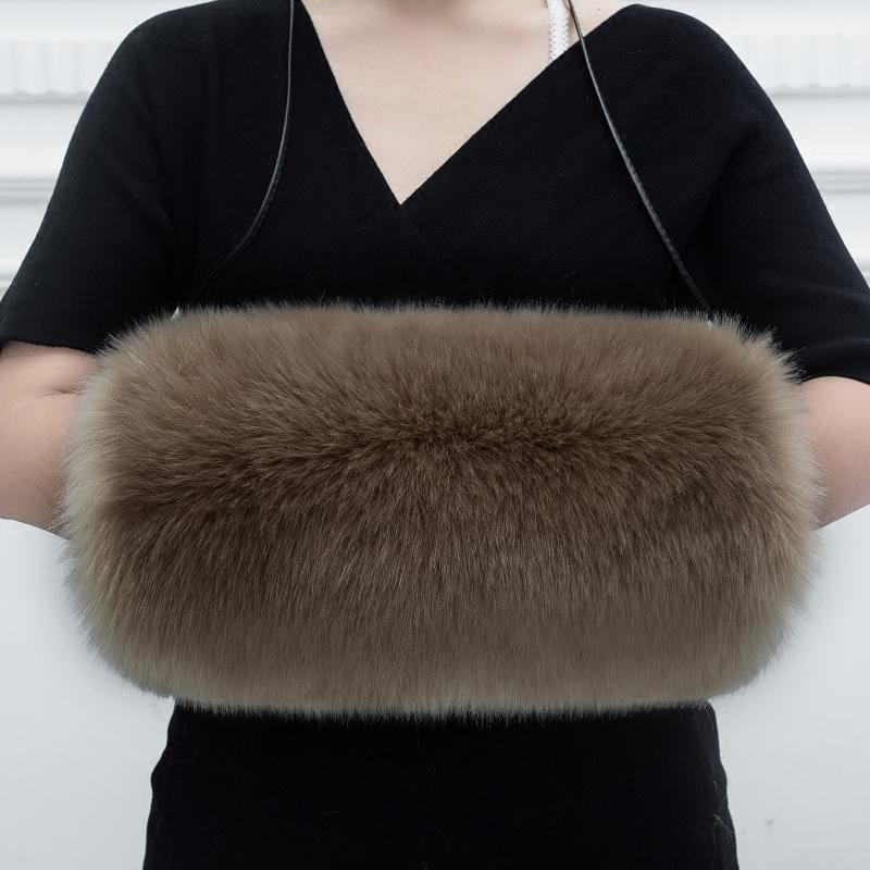 6f41f312bcd3 2019 Lady Blinger Faux Fur Winter Warm Arm Warmer Multicolor Fox Fur Hand  Wrist Hand Warmer Big Size Mitten From Arrowhead