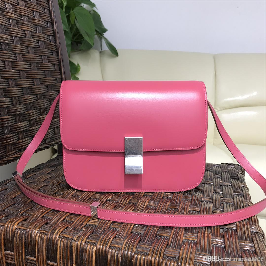 24f708b96729 2018 New Women Real Genuine Leather Evening Celi Messenger Bags Top 7A  Quality Toothpick Leather Classic BOX Handbags Chain Shoulder Bag Leather  Goods ...